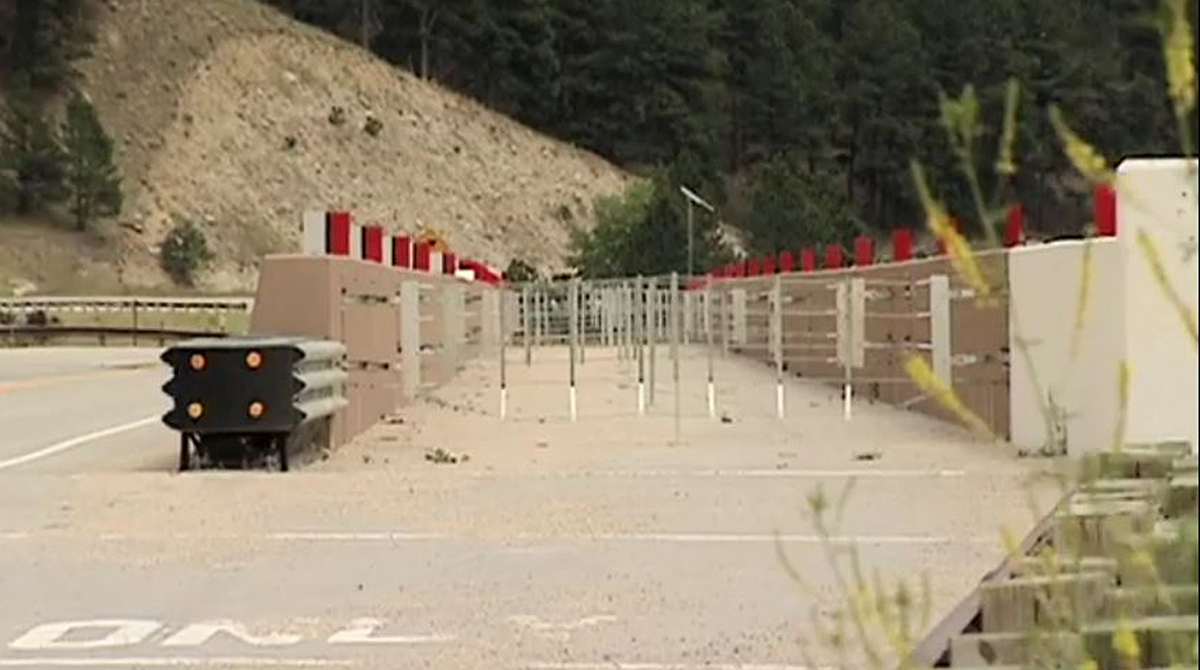 A containment system for runaway trucks in Wyoming.