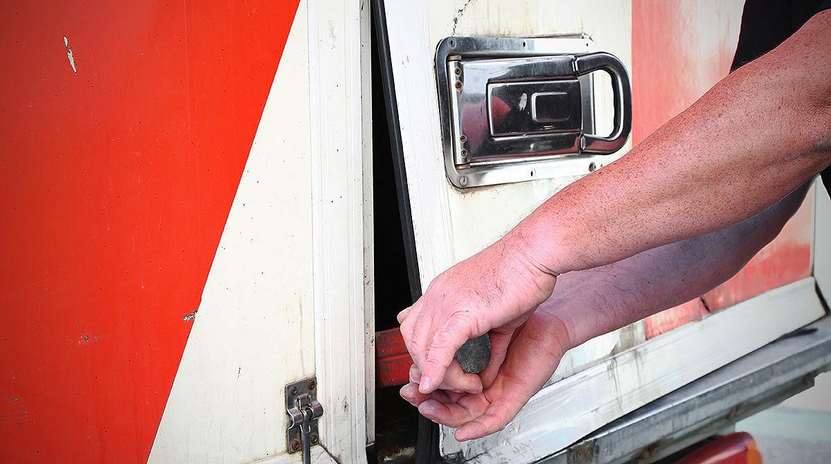 Breaking into truck