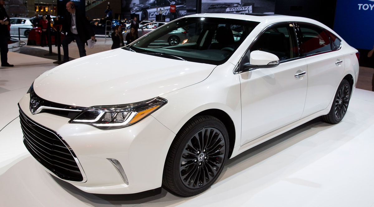 The 2016 Toyota Avalon, shown here at the Chicago Auto Show in 2015, is included in the recall.