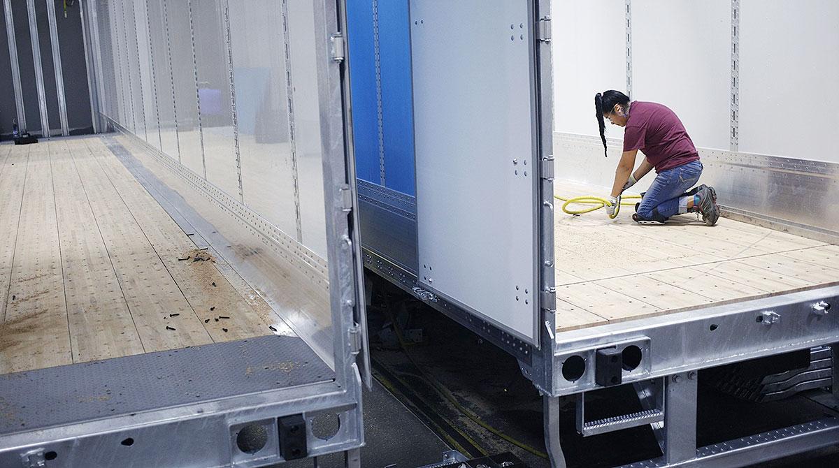 Wabash National trailer worker