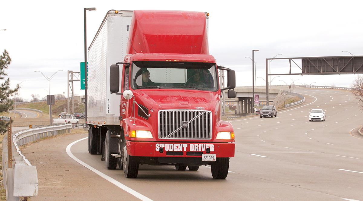 Student driver truck