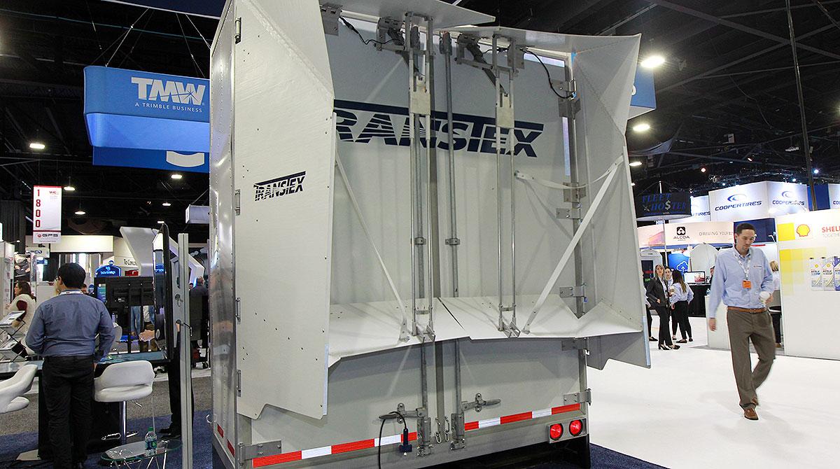 Transtex trailer tail on exhibit