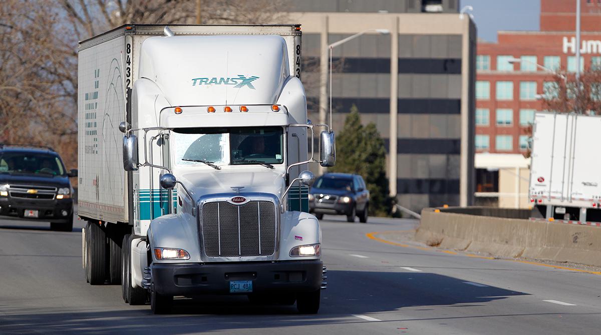 TransX truck in Louisville, Ky.