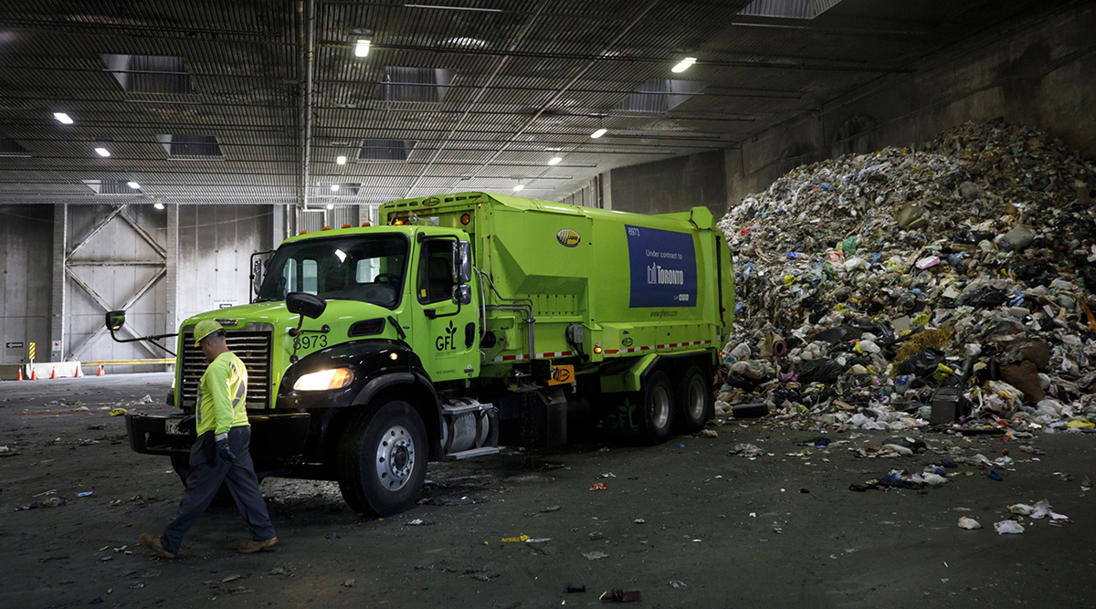 GFL Environmental Inc. garbage truck