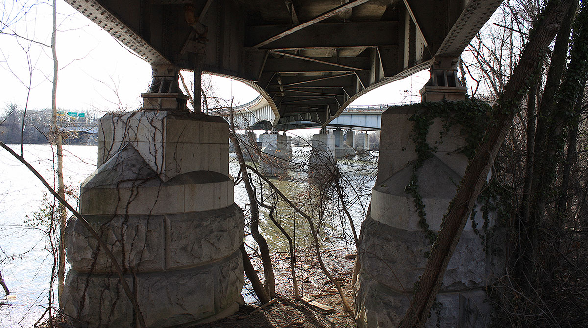Under the Theodore Roosevelt Bridge