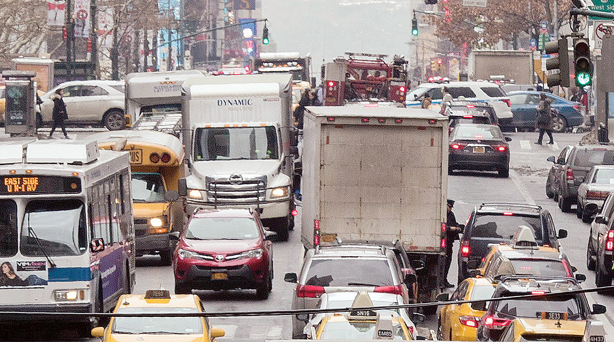 Road congestion in NYC