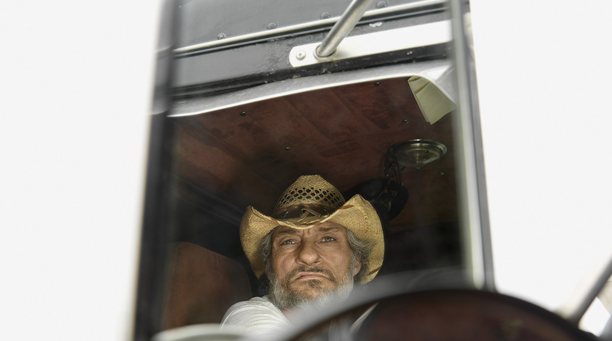 Truck driver in his cab