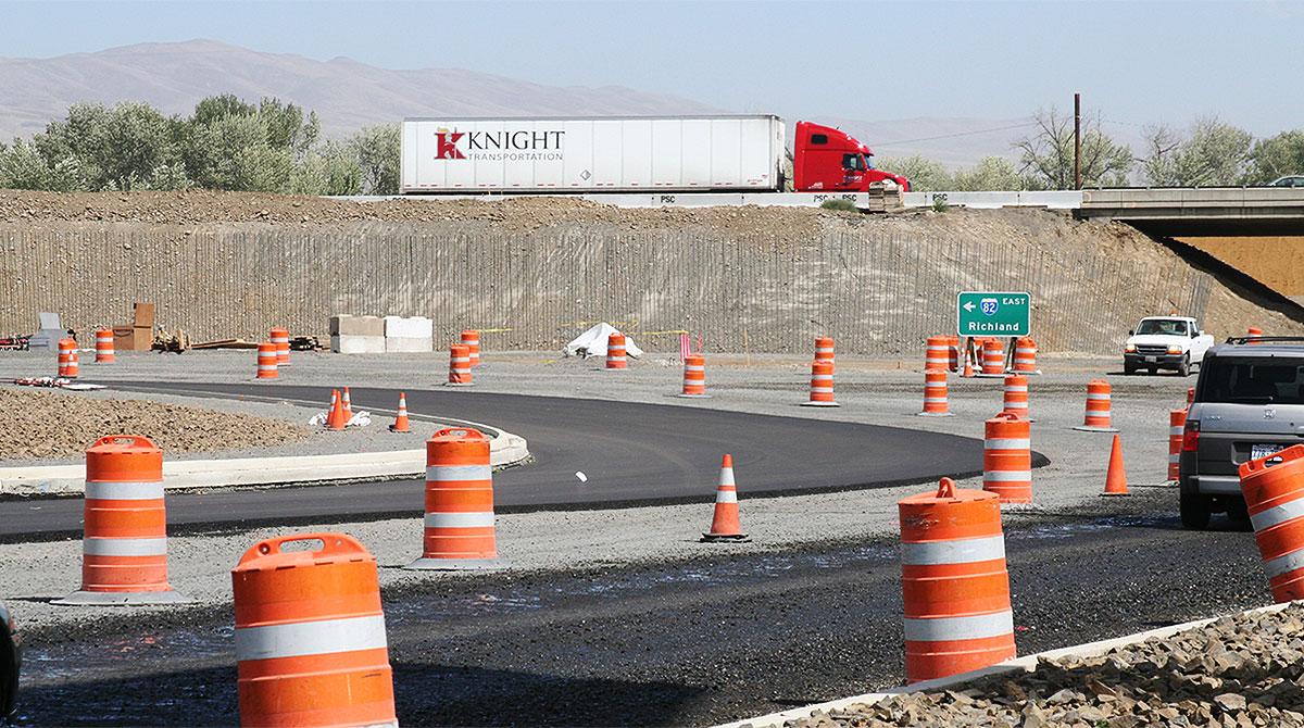 Highway construction in Washington
