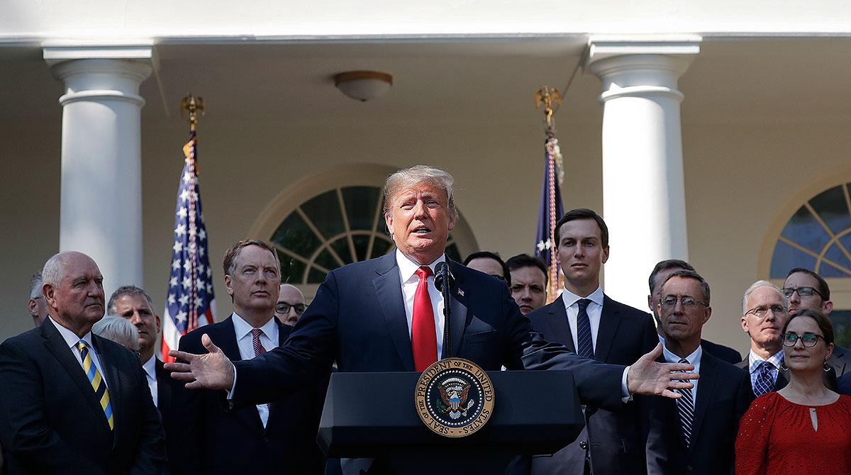 Donald Trump gestures