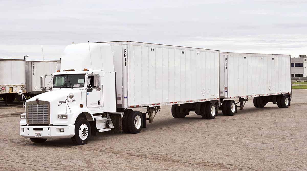 Twin 33-foot trailers