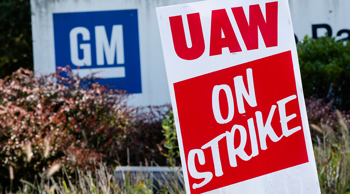 United Auto Workers strike sign