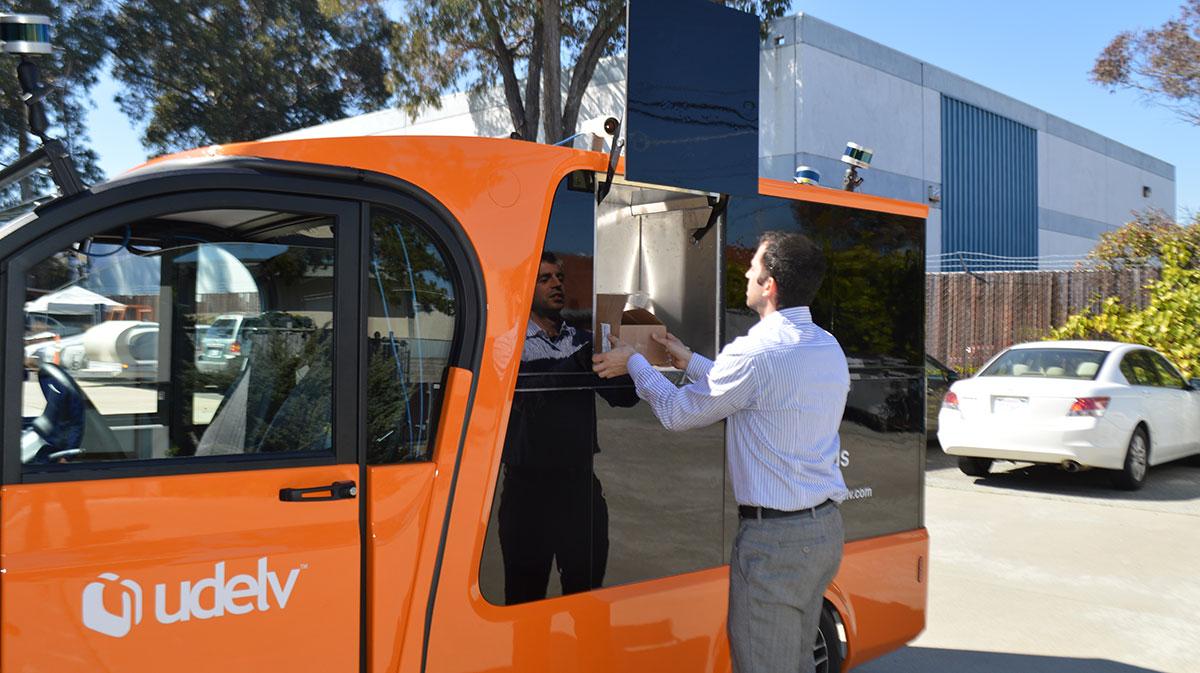 Udelv self-driving vehicle