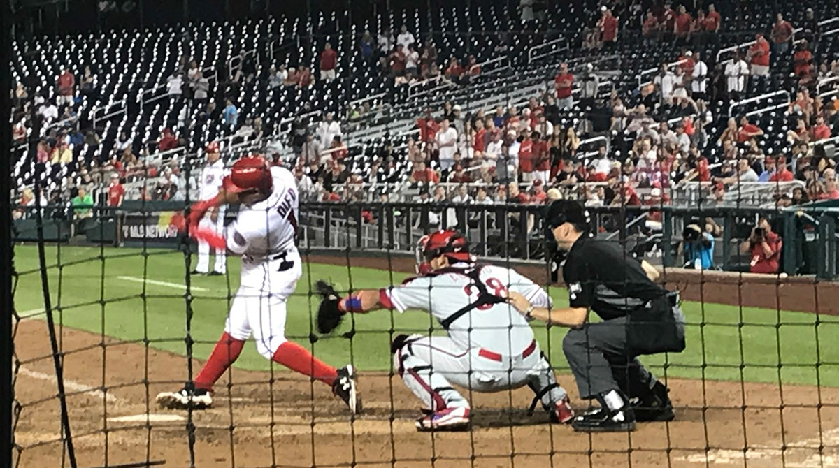 Umpire behind the plate at Nationals Park
