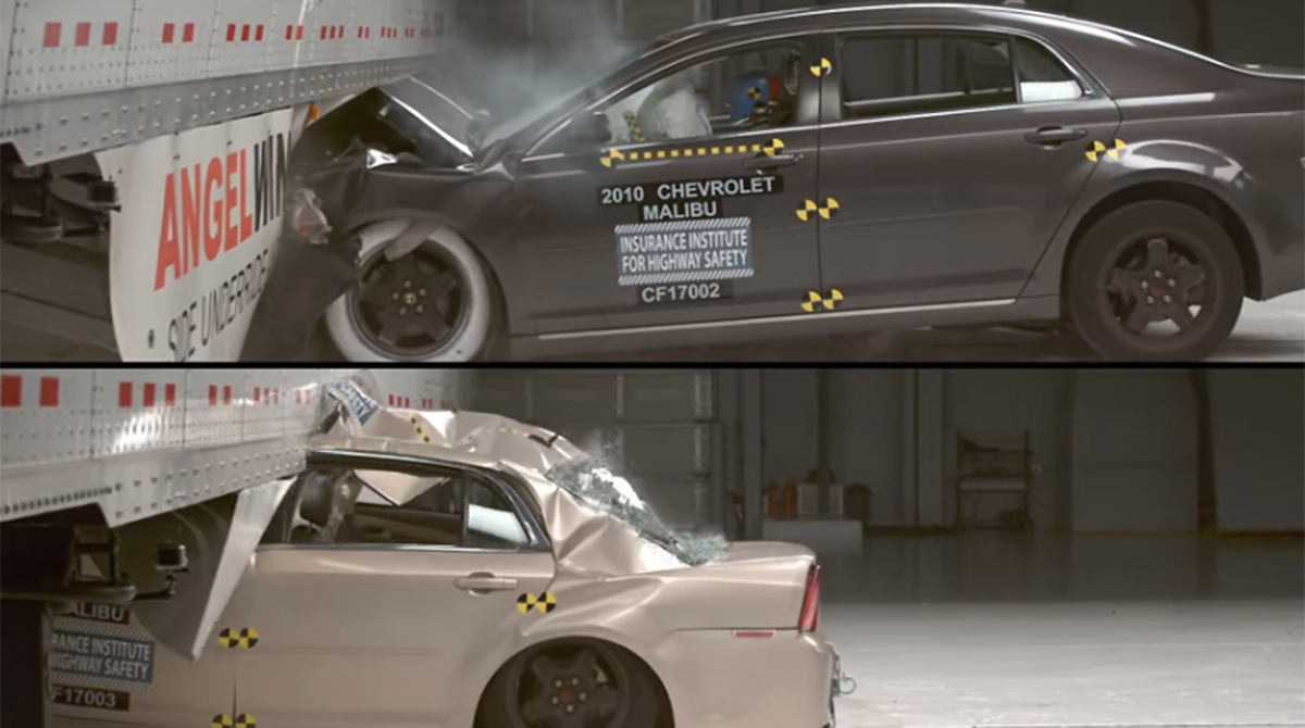Underride guard crash demonstration