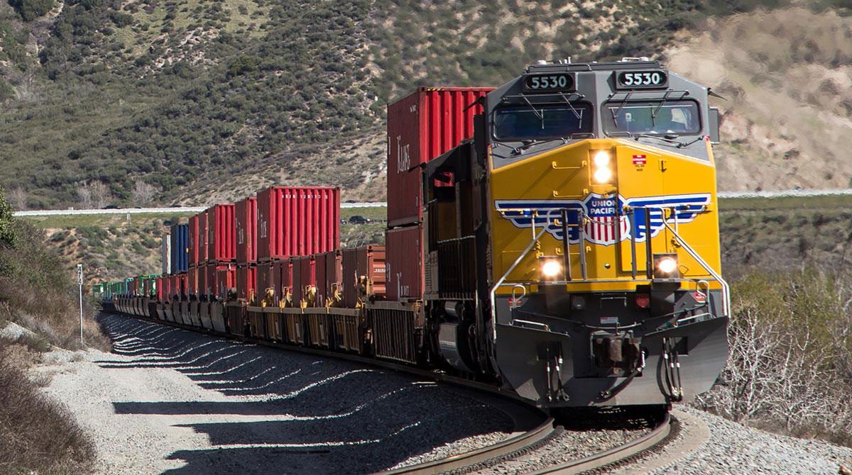 Union Pacific intermodal containers California