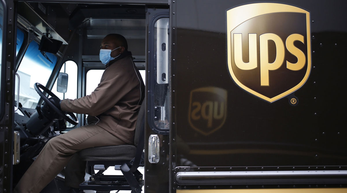 A UPS delivery driver in Louisville, Ky.