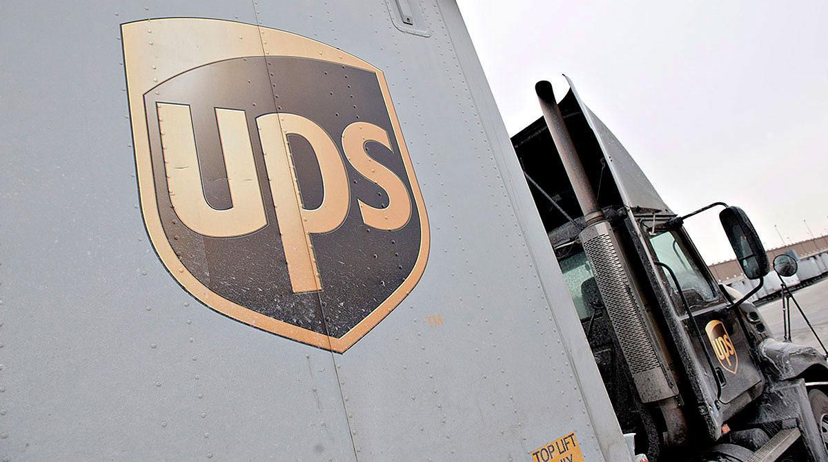 UPS tractor-trailer