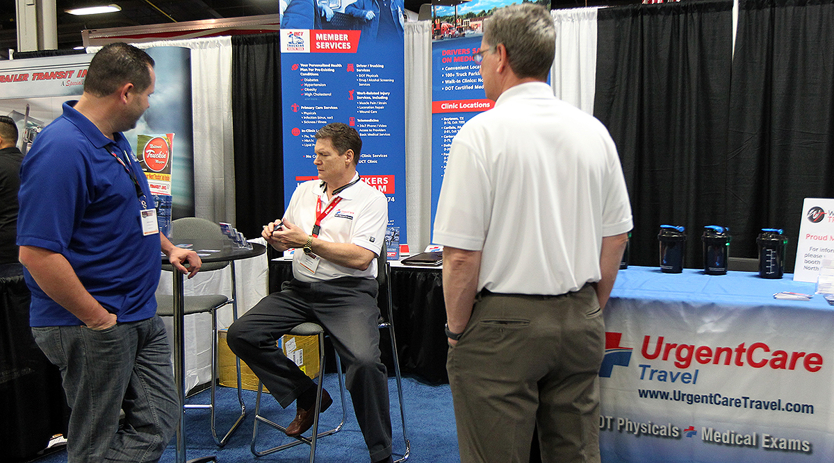 The UrgentCare booth at the Mid-America Trucking Show