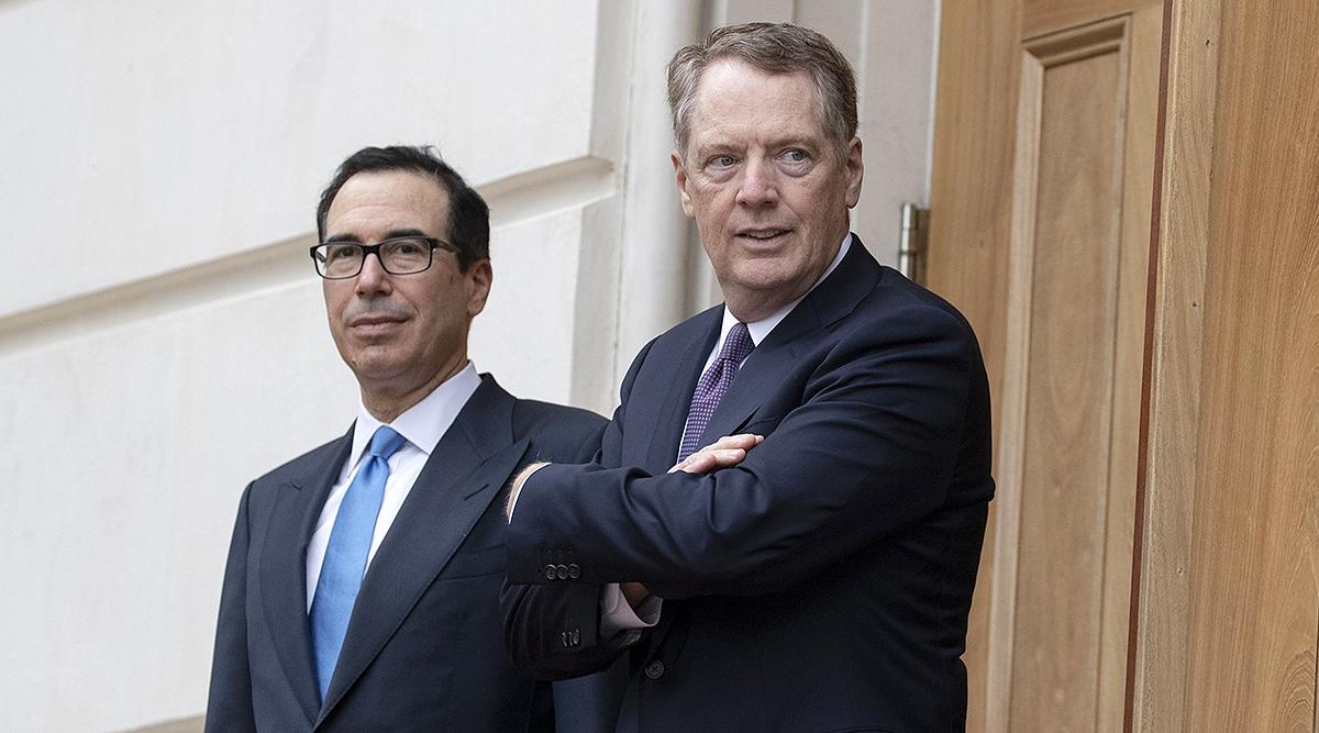 Treasury Secretary Steven Mnuchin (left) and Trade Representative Robert Lighthizer
