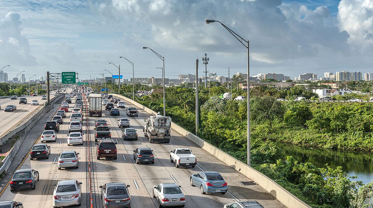 Miami traffic jam