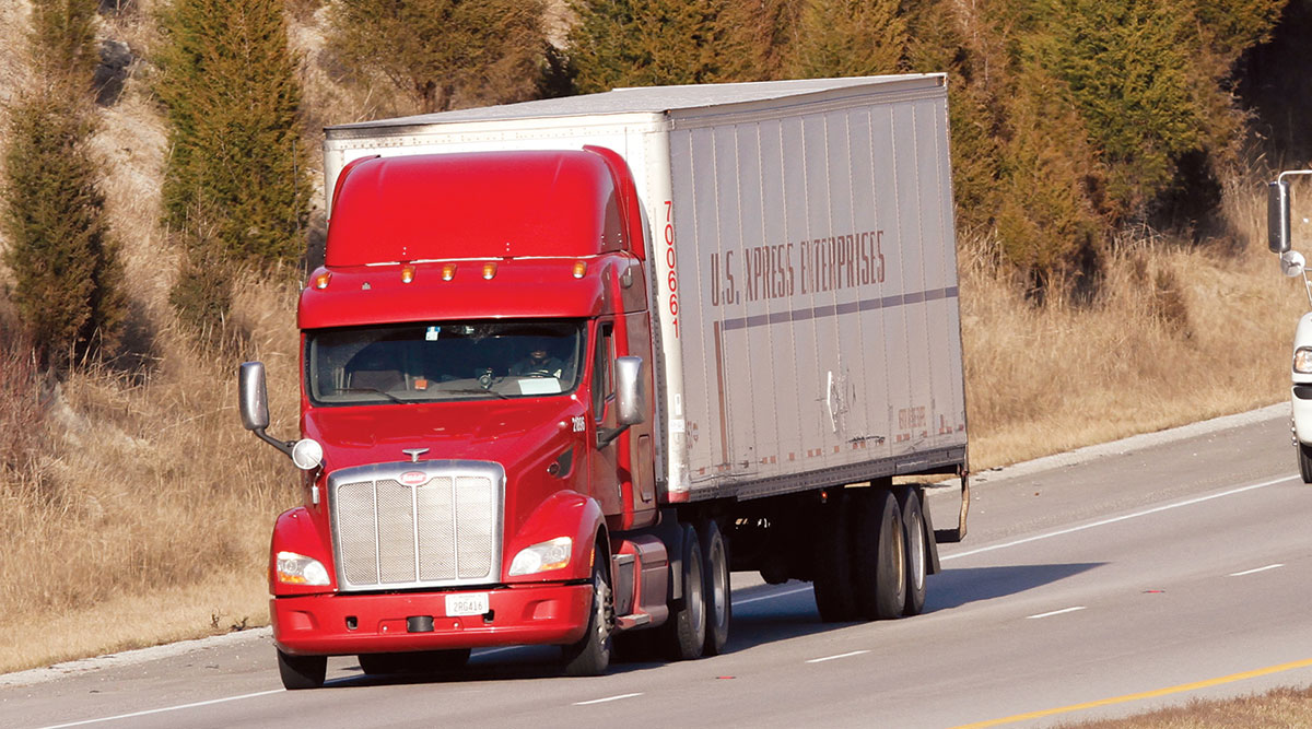U.S. Xpress truck in Kentucky