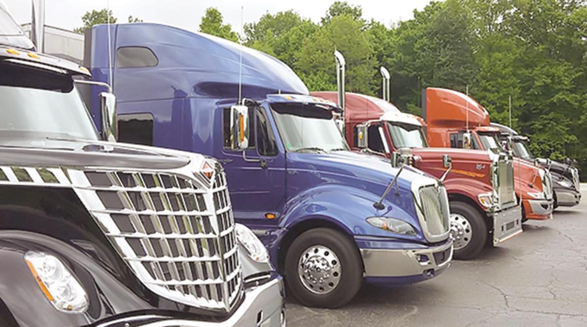 Sternberg International Truck sales lot in Indiana