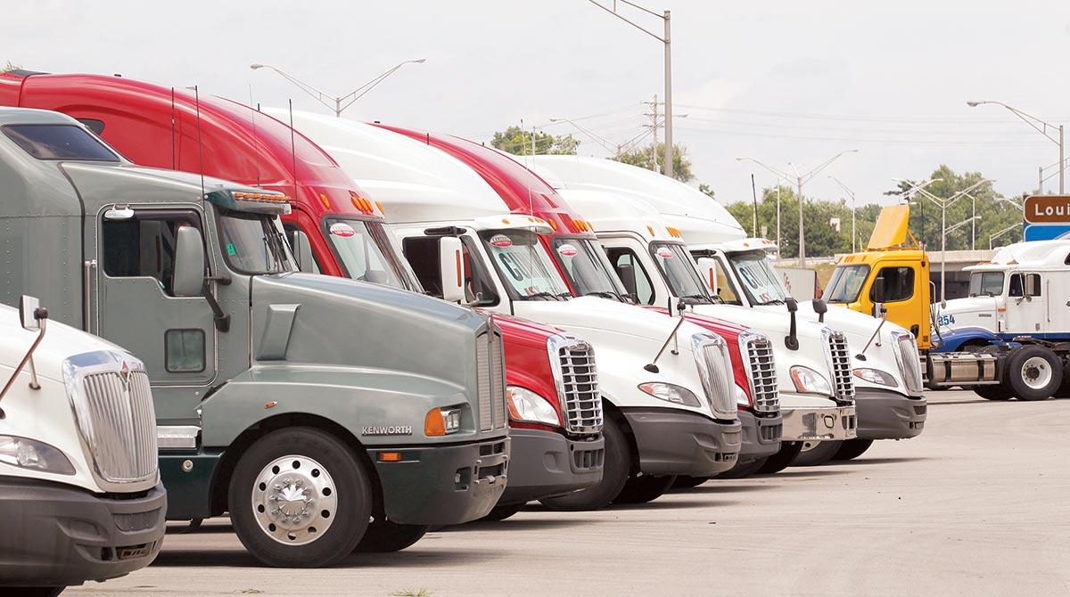 Used truck lot in Kentucky