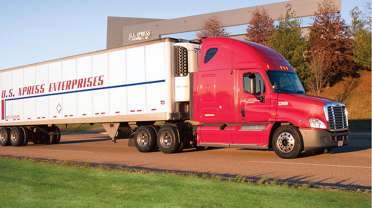 USXpress reefer truck