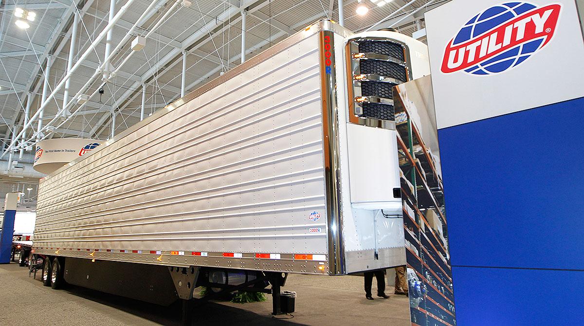Utility trailer on exhibit