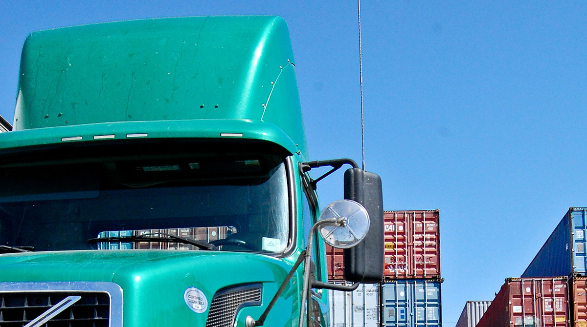 Truck at Port of Oakland