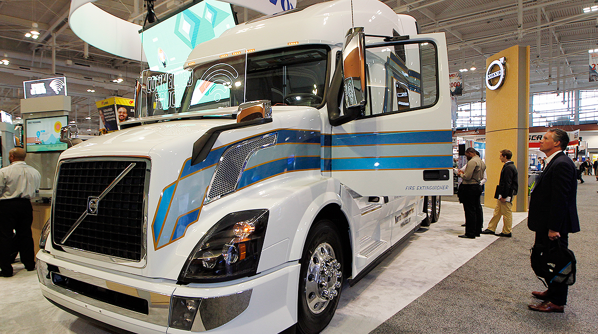 Volvo truck on display