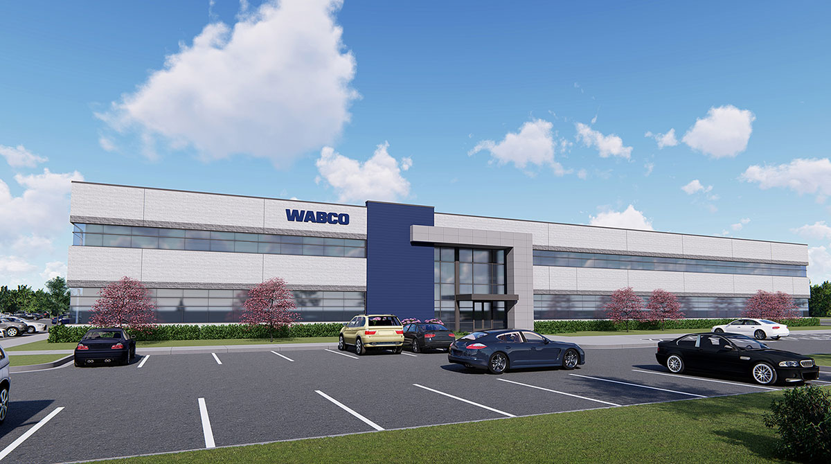 Rendering of New Wabco Headquarters