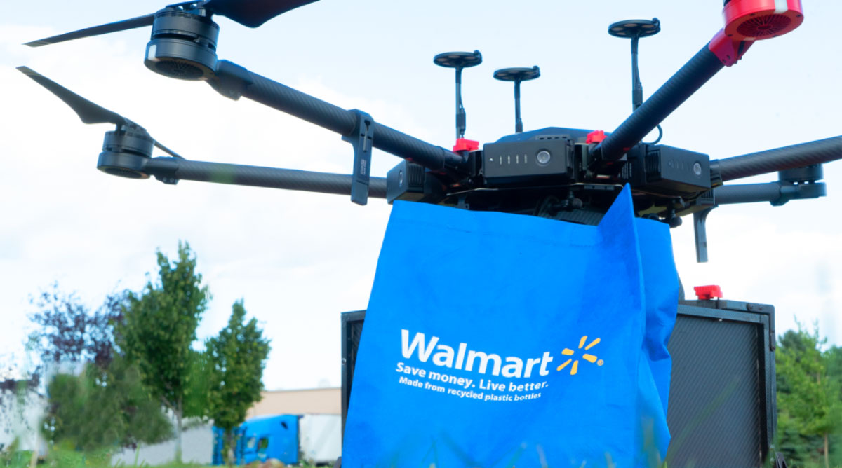 Walmart has started testing drone deliveries in Fayetteville, N.C.