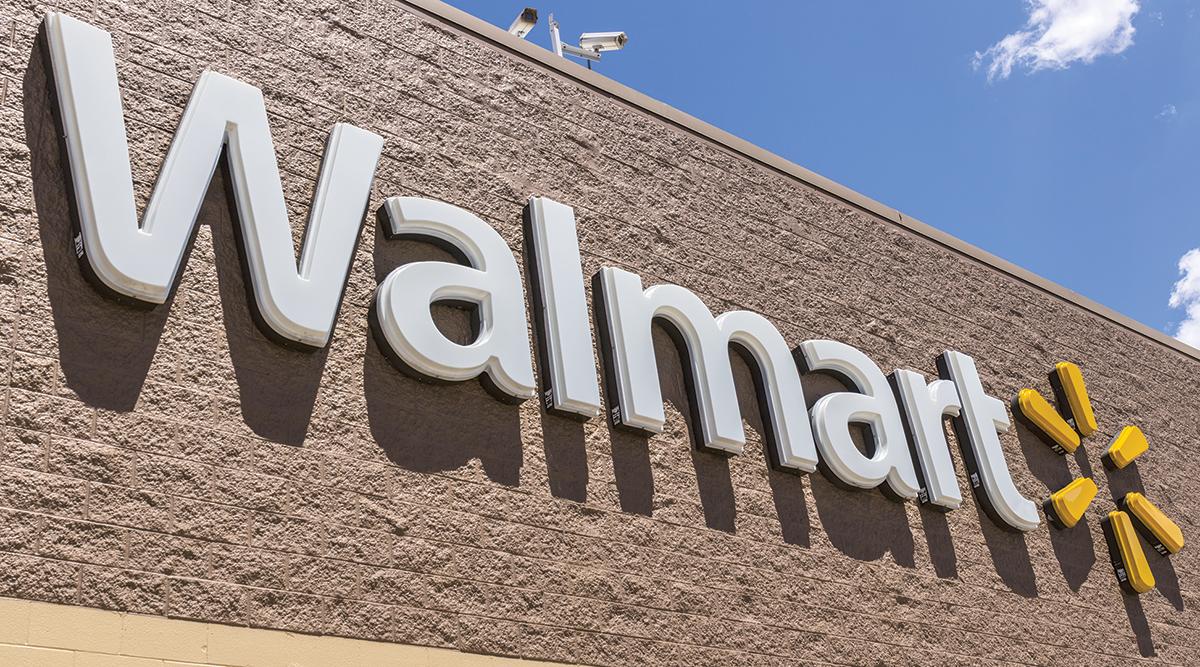 Exterior of a Walmart building