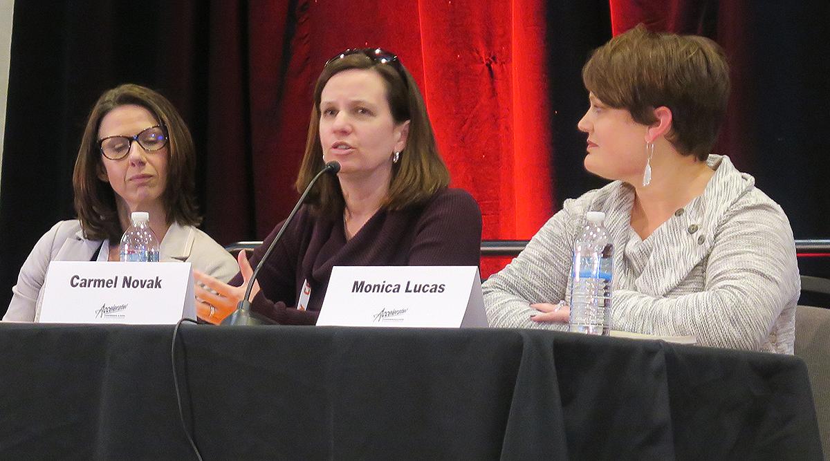 Panelists Jessica Herren, Carmel Novak and Monica Lucas