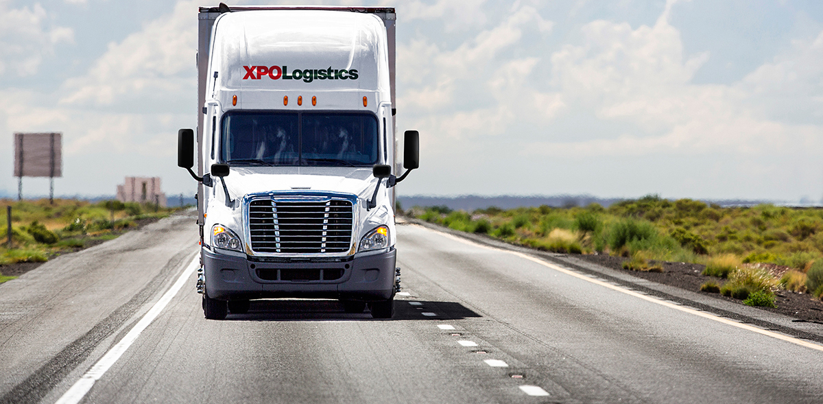 XPO truck on the road