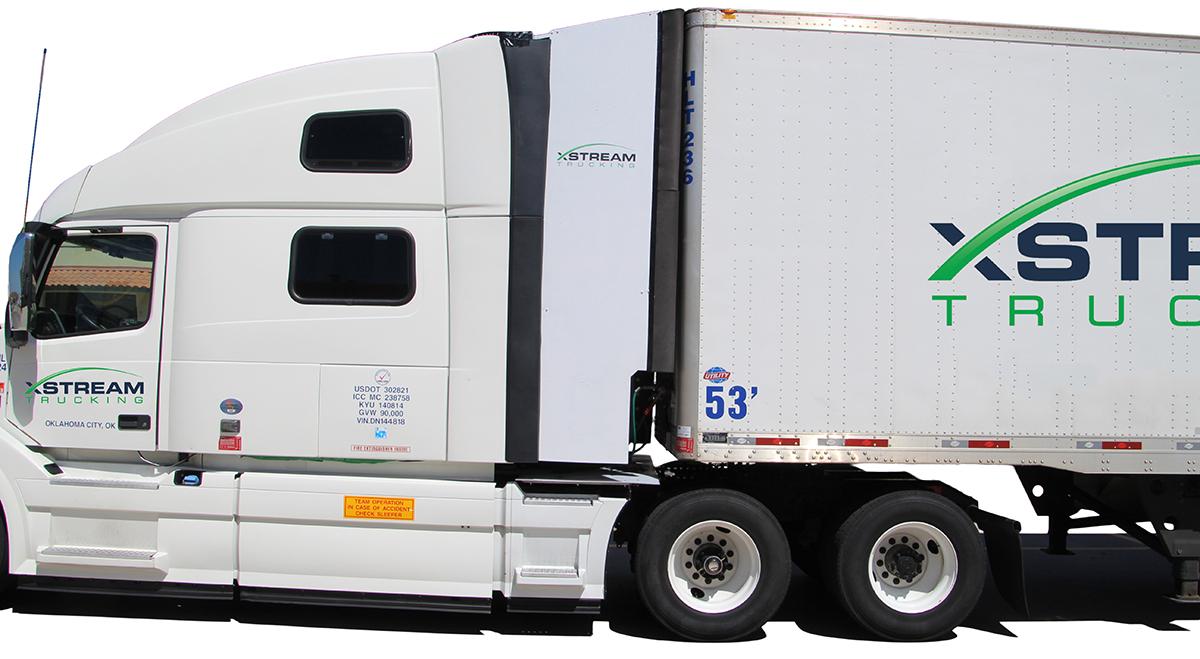 The Xstream Tractor Trailer Aerodymanic Device