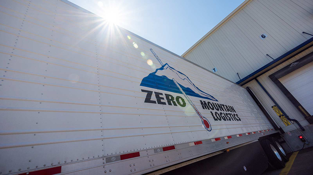Zero Mountain trailer at a loading dock