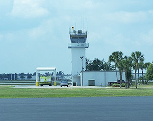 Control tower at Lakeland, Fla., airport