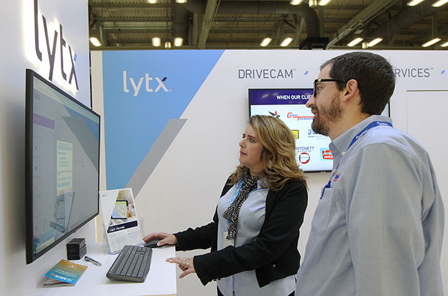 A demonstration at the Lytx booth