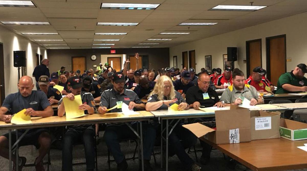Truck drivers test at 2019 Minnesota TDC