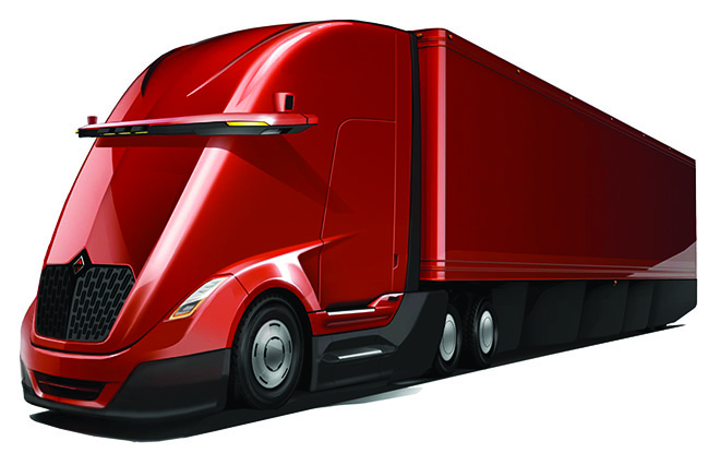 A Navistar rendering of what a fully automated truck might look like someday