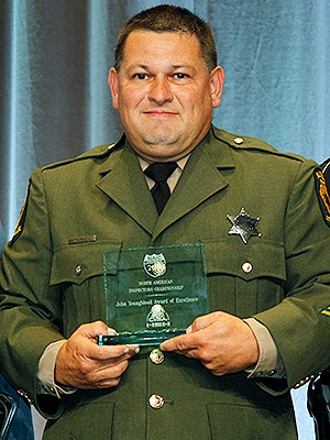Matt Johnson of the Illinois State Police won the Jim Youngblood award