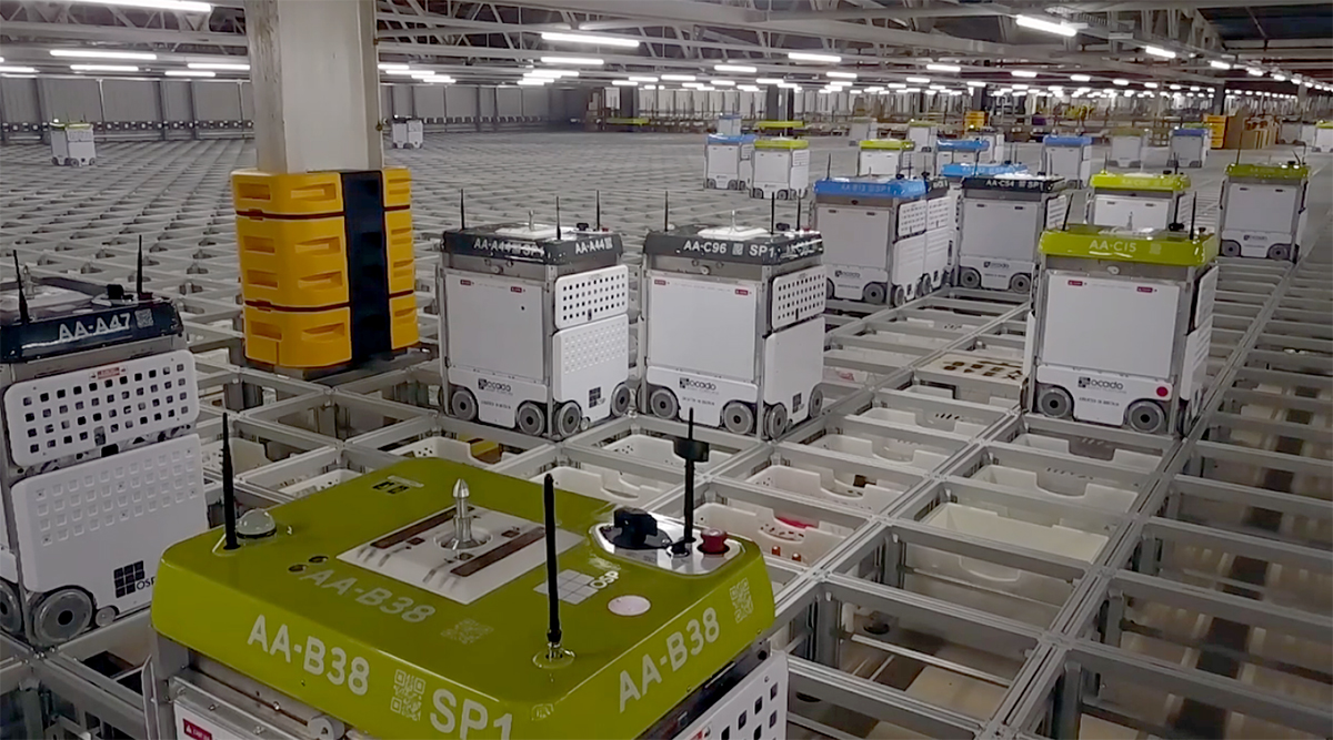 How Many Warehouse Robots Does It Take to Fill a Grocery