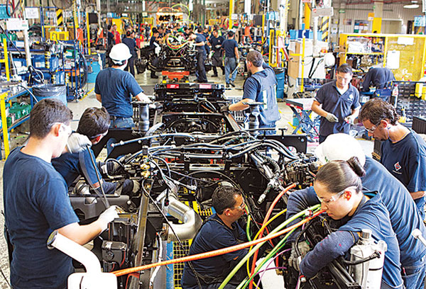 International Truck production line