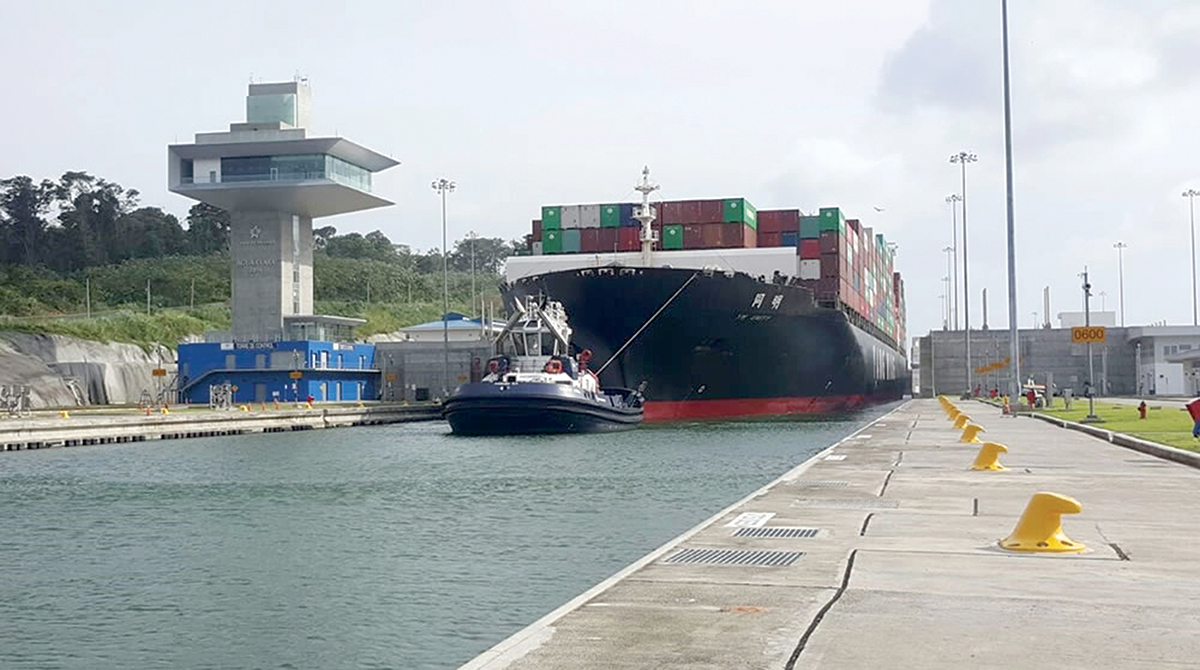 panama canal chief looks back on the first year of the big ship