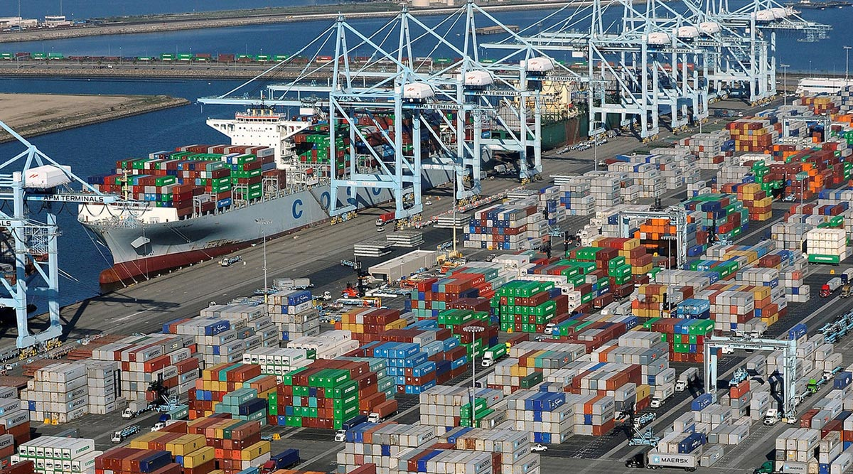 Port Long Beach containers Reuters