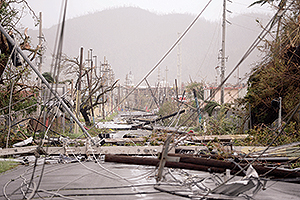 Damage from Hurricane Maria in Humacao, Puerto Rico