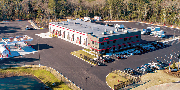 Ryder's full-service maintenance facility in Norton, Mass.