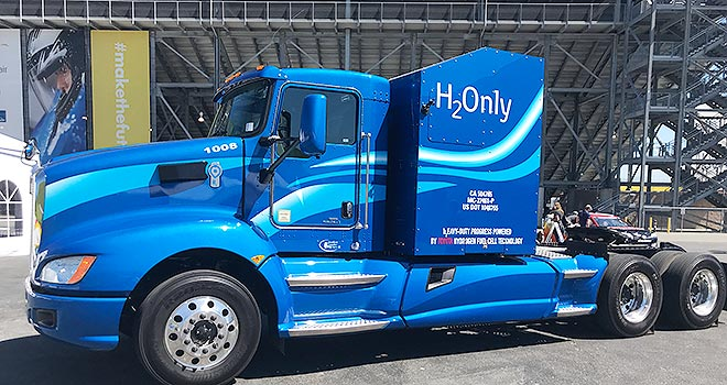 Toyota's hydrogen-powered Class 8 tractor